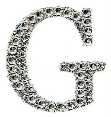 """2"""" Rhinestone Letter """"G"""" Sticker"""