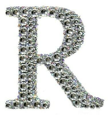 "2"" Rhinestone Letter ""R"" Sticker"