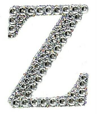 "2"" Rhinestone Letter ""Z"" Sticker"