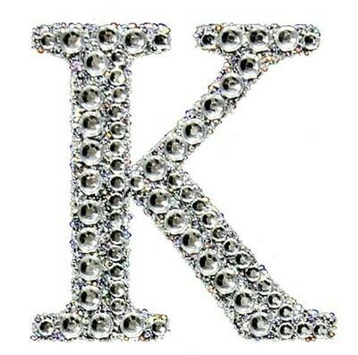 "2"" Rhinestone Letter ""K"" Sticker"