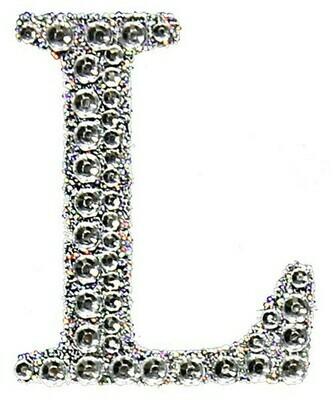 "2"" Rhinestone Letter ""L"" Sticker"