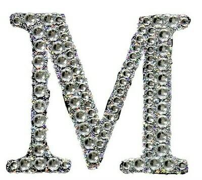 "2"" Rhinestone Letter ""M"" Sticker"