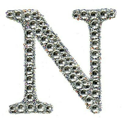 "2"" Rhinestone Letter ""N"" Sticker"