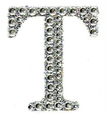 "2"" Rhinestone Letter ""T"" Sticker"