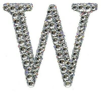 "2"" Rhinestone Letter ""W"" Sticker"
