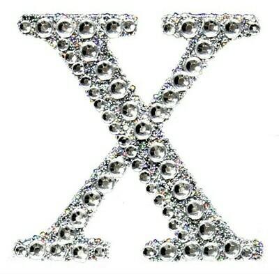 "2"" Rhinestone Letter ""X"" Sticker"