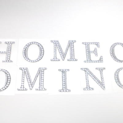 "2"" Rhinestone Letter ""HOMECOMING"" Sticker Set"