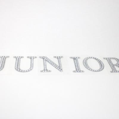 """2"""" Rhinestone Letter """"JUNIOR"""" Sticker Set"""
