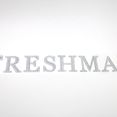 "2"" Rhinestone Letter ""FRESHMAN"" Sticker Set"