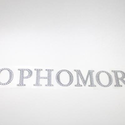 "2"" Rhinestone Letter ""SOPHOMORE"" Sticker Set"
