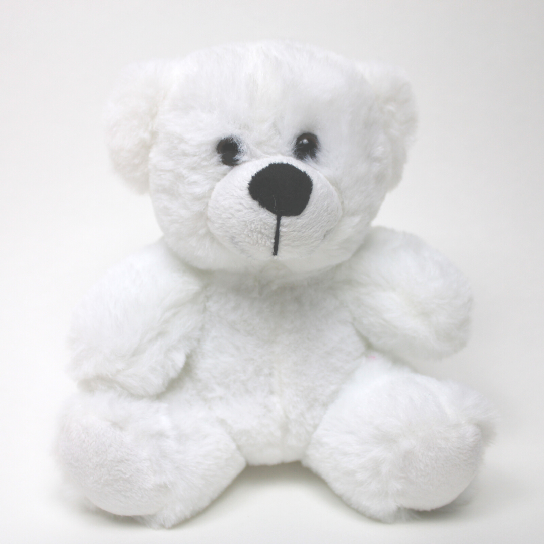 "9"" Colorama Bear - White"