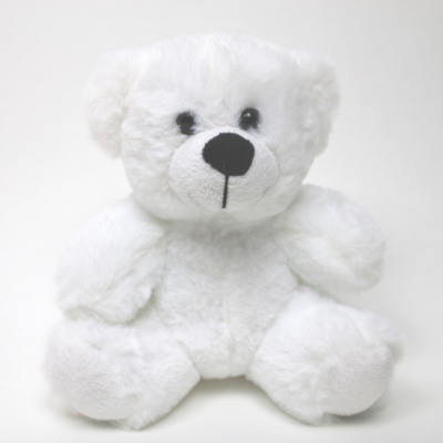 "9"" Colorama Bear - White"