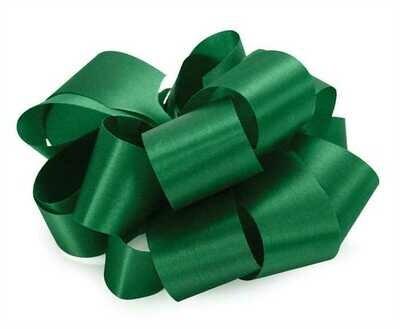 10 yards Satin Acetate  - Holiday Green