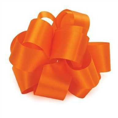 10 yards Satin Acetate  - Orange
