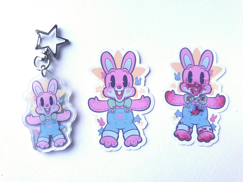 """Robbie Rabbit 2"""" acrylic charms!"""