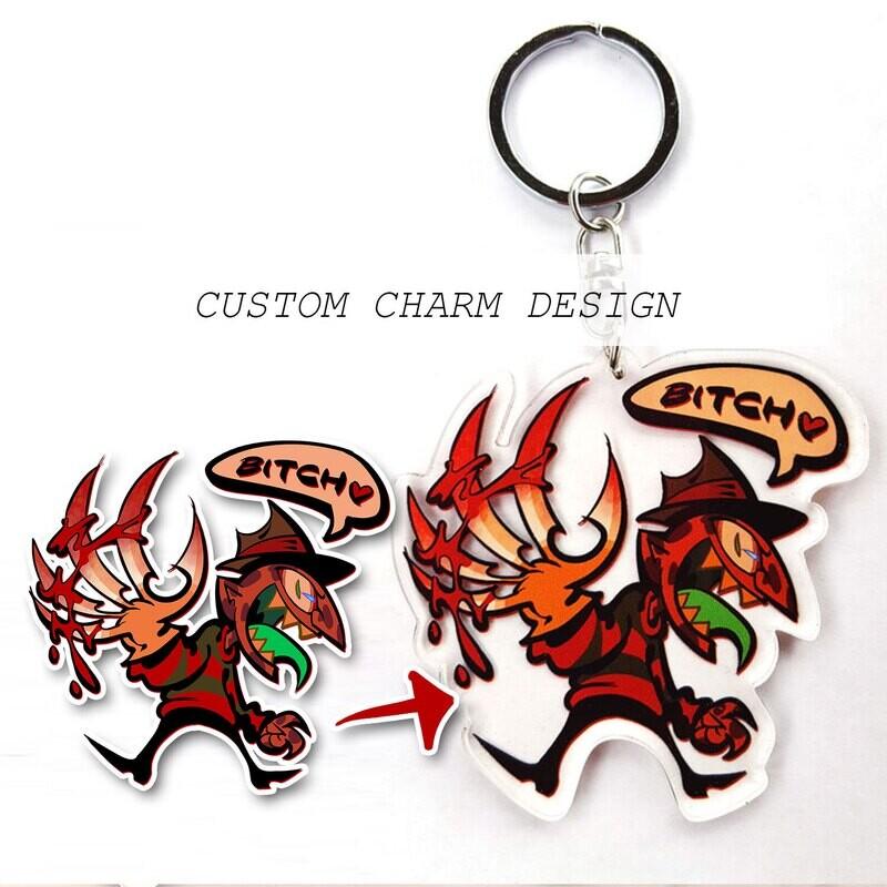 Custom Acrylic Charm/Keychain Commissions