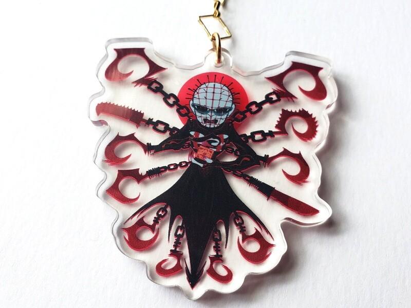 "Pinhead 3"" acrylic charms!"