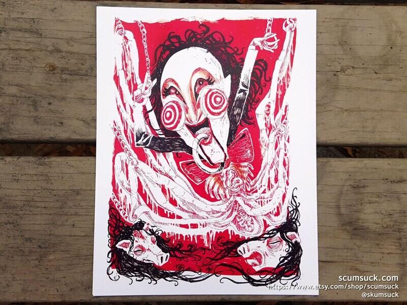 SAW pig gore print (4x6) (8x10)