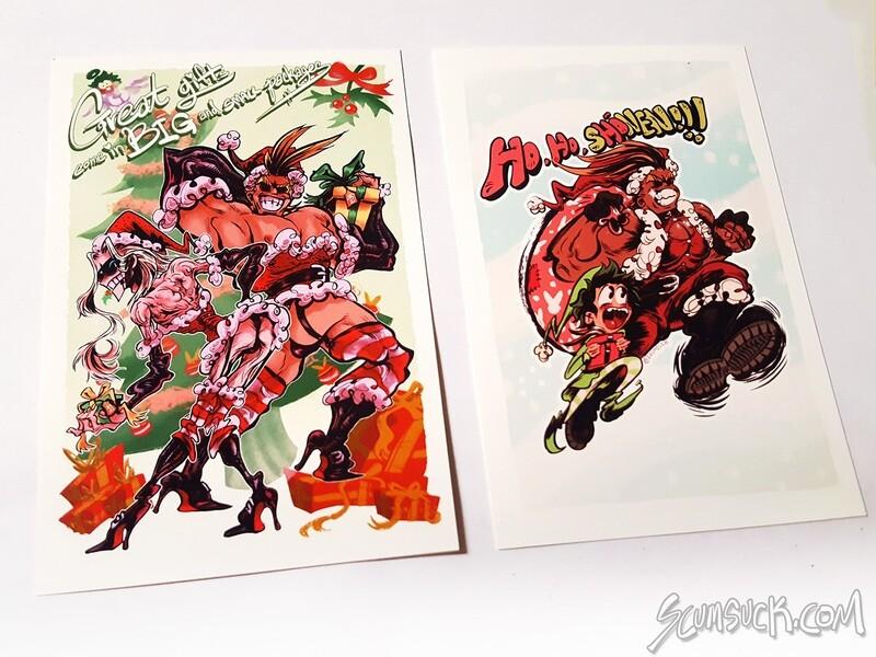 BNHA All Might Christmas prints (4x6)