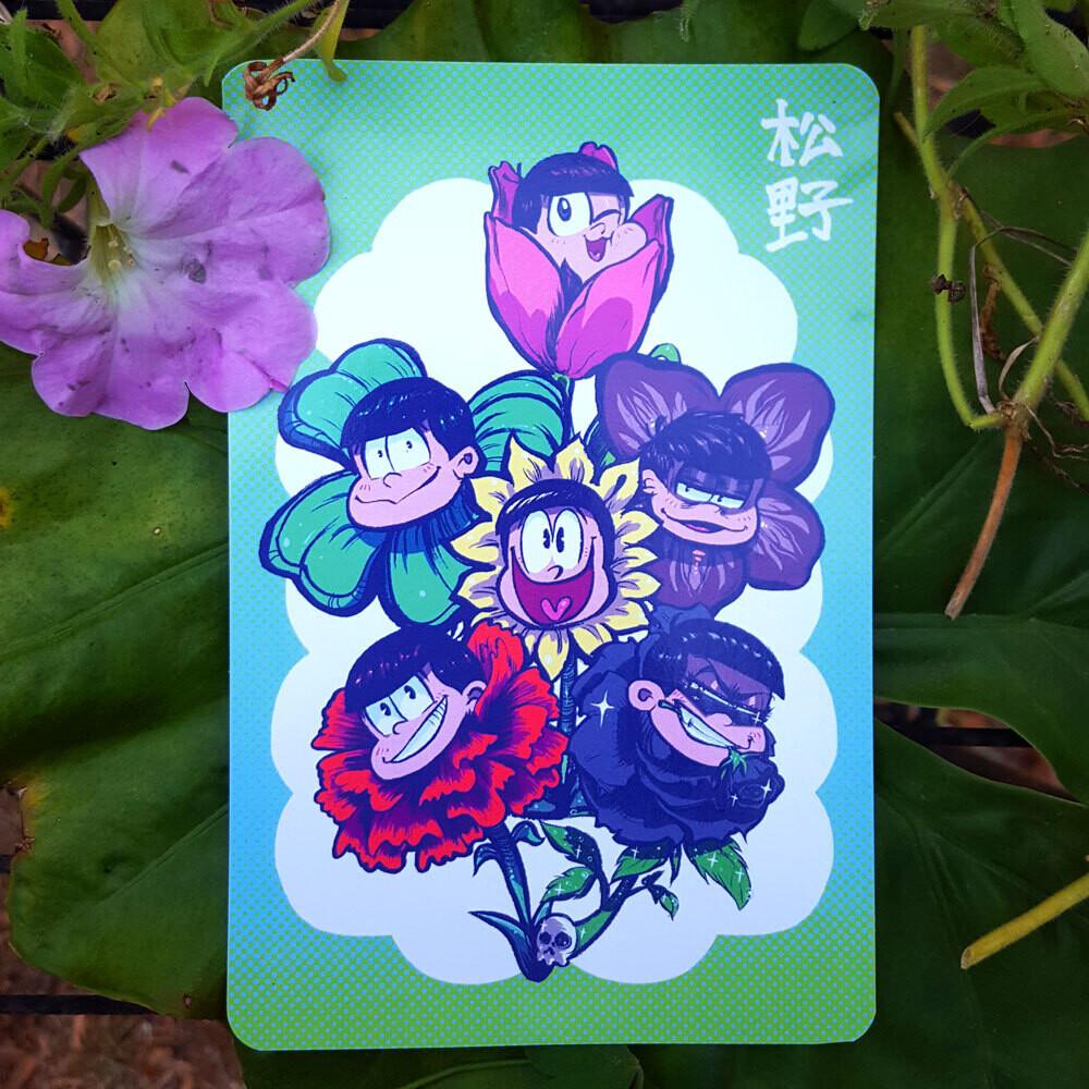 Flower Matsus Postcard (4x6)