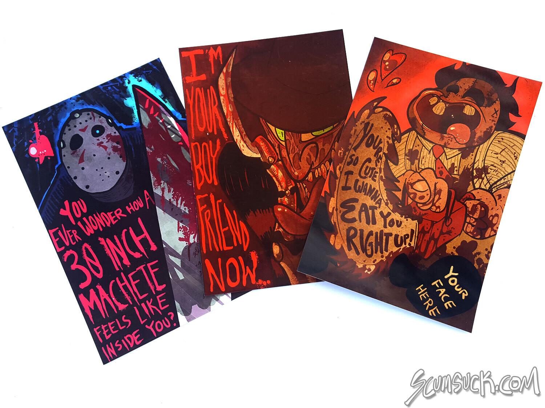 Slasher Valentines Print set (4x6)