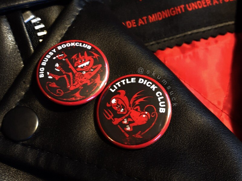 Lil' Dick and Big Bussy Club Buttons n Stickers!