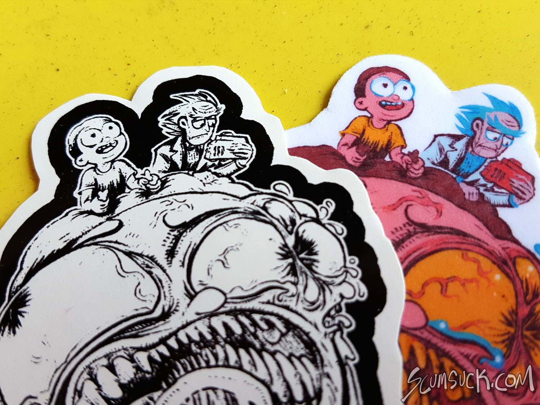 R&M Big Head Morty Sticker