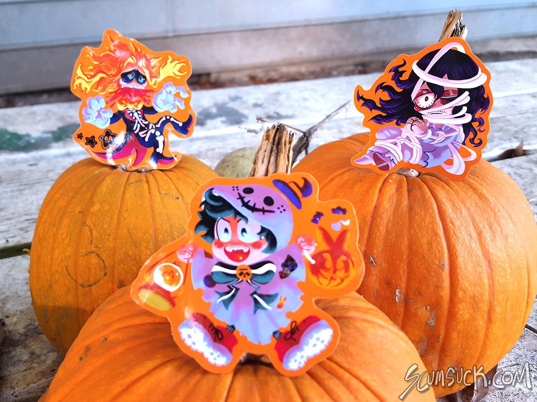 BNHA halloween stickers