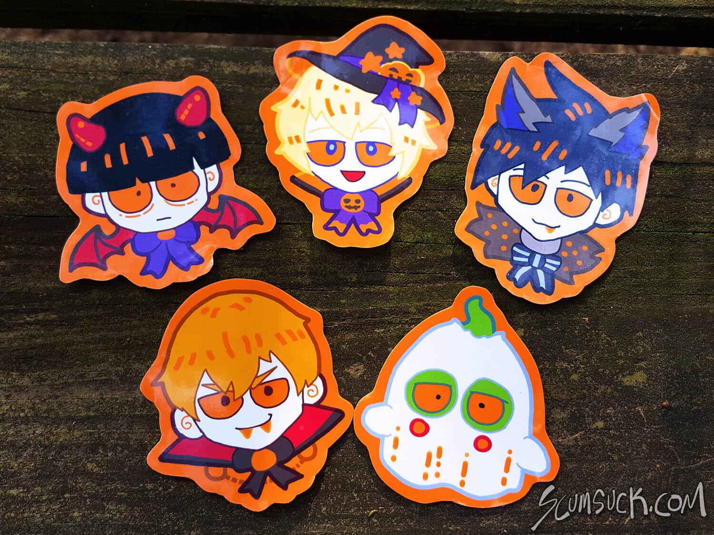 MP100 Halloween Stickers