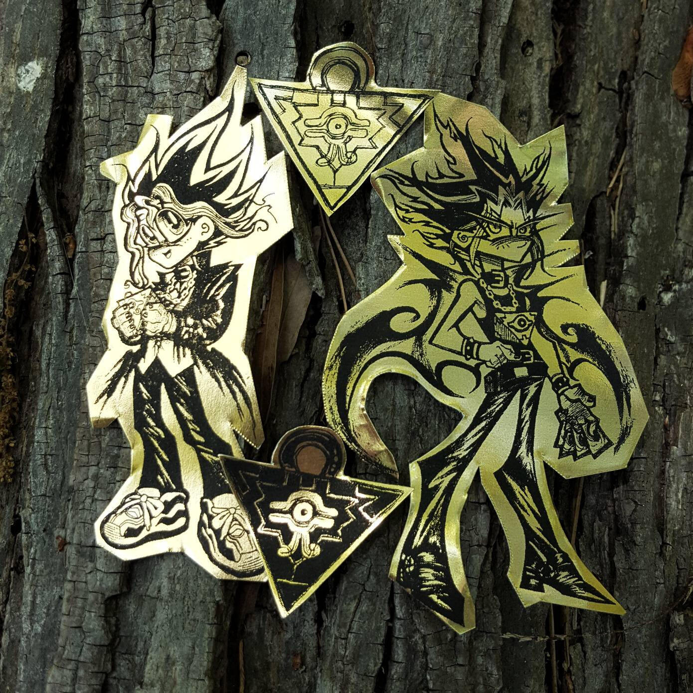 Gold Foil YGO stickers: Yugi and Yami
