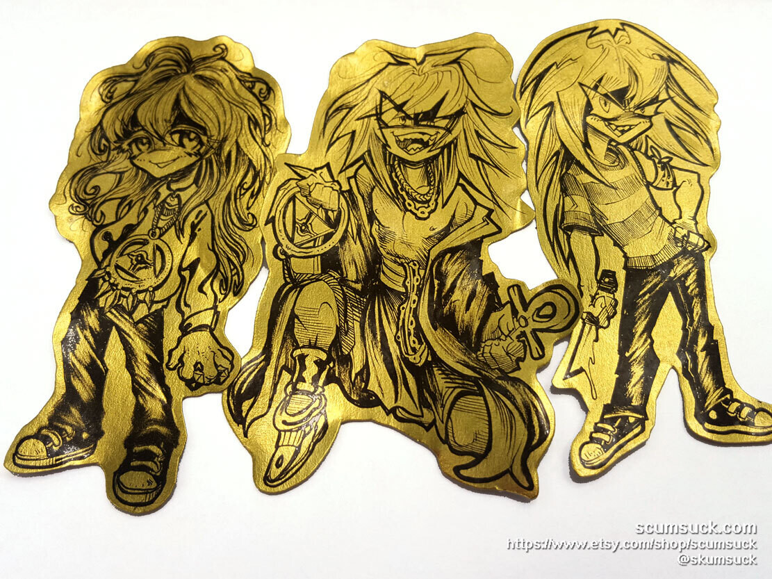 Gold Foil YGO stickers: Bakura!