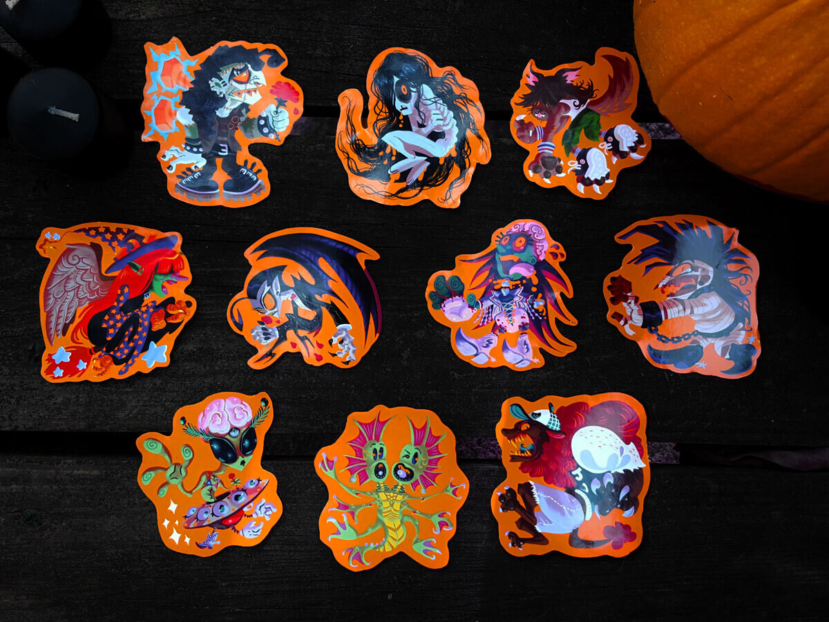 Classic Horror Monster Stickers!