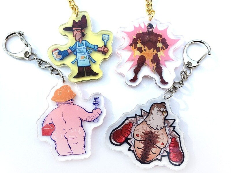"""TF2 Sexy 2"""" Charms"""
