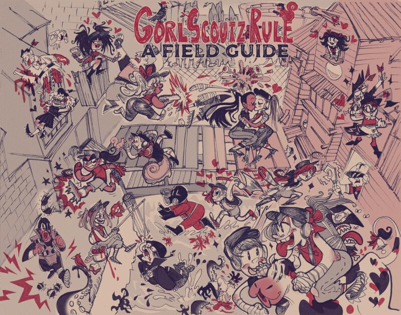 digital PDF: GORL SCOUTZ RULE: A FIELD GUIDE ZINE!