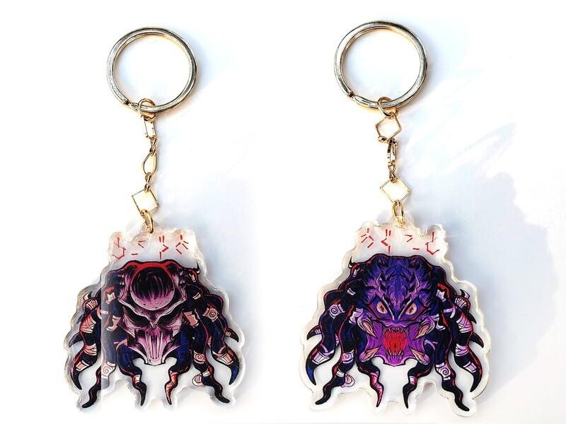 Predator Yautja acrylic charms (3 in)