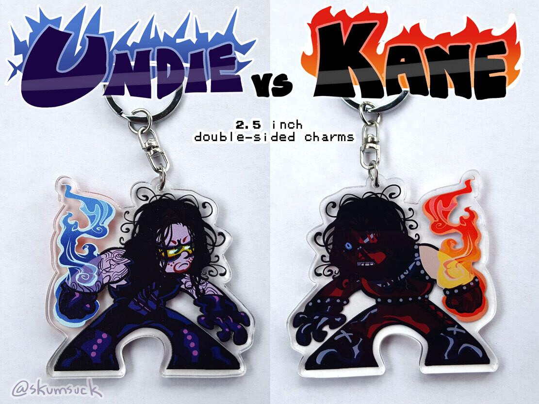 "Kane n' Undie double-sided keychain (2.5"")"