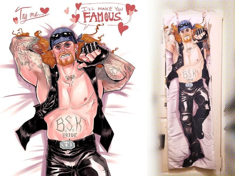 "Undertaker ""American Badass"" Dakimakura Pillowcase"
