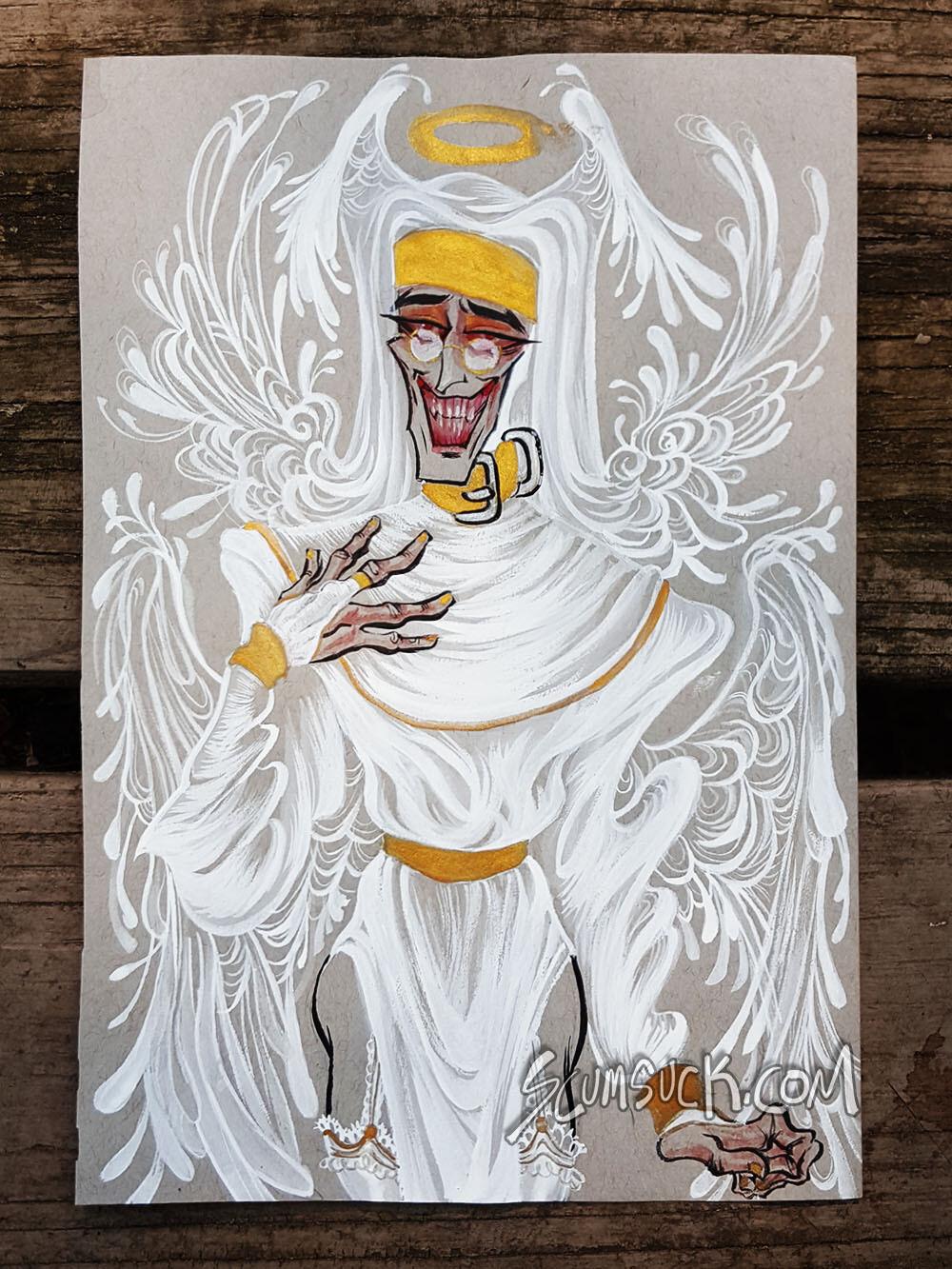 Nun Medic: 6x9 ink drawing