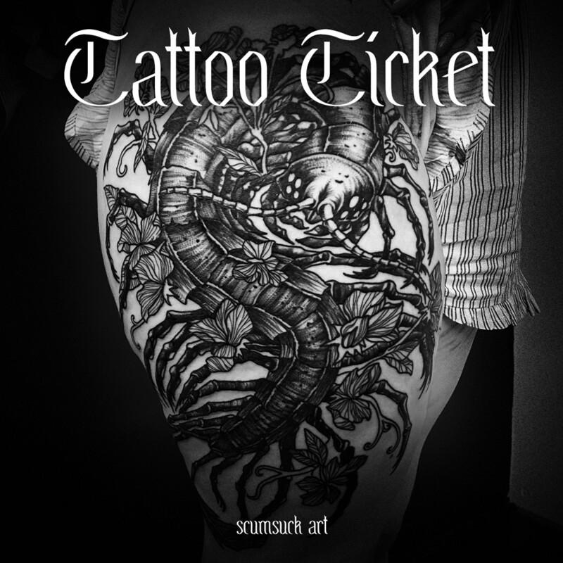 Tattoo Ticket (ADMIT ONE)