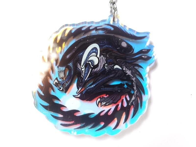 "Alien Xenomorph acrylic charms ( 3"")"