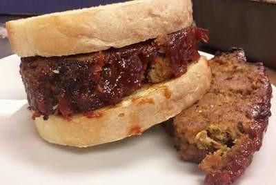 Warm Meatloaf Sandwich