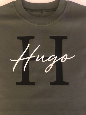 Initial & Signature Name (Thinner Font)T-shirt