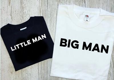 Big Man & Little Man T-shirt matching set