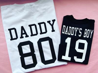 Daddy's Girl/boy & DADDY T-shirt matching set