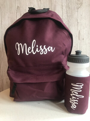 Kids School Backpack And Bottle Bundle