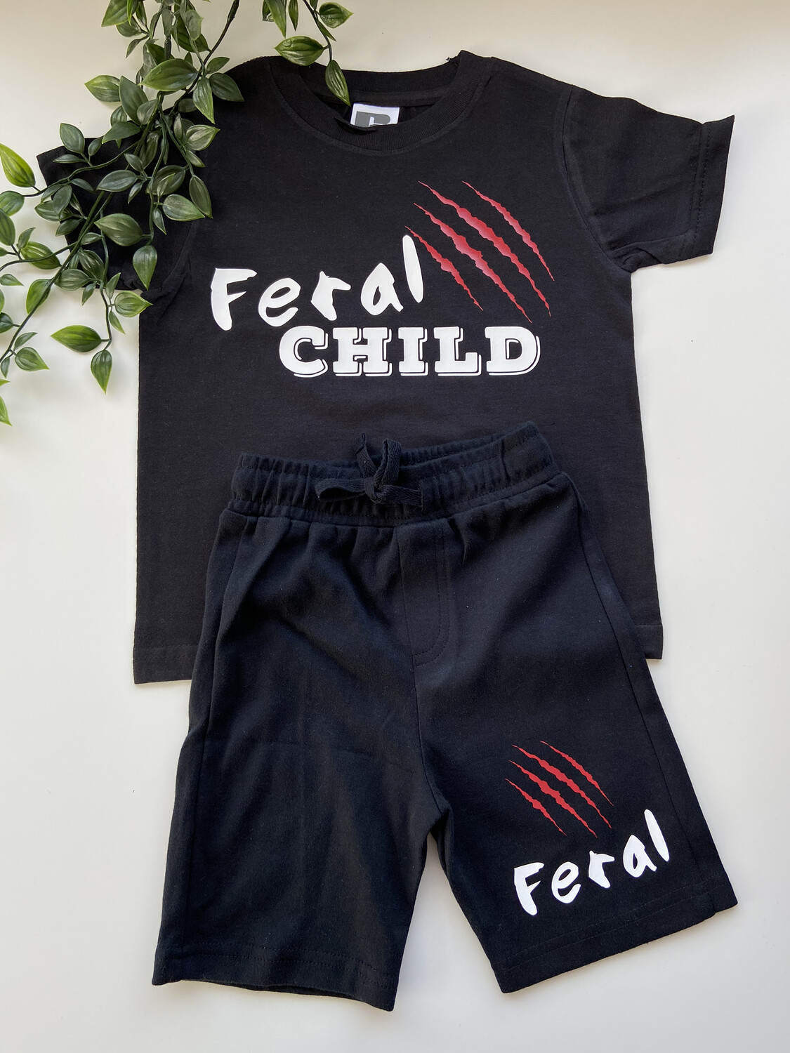 Feral Child T-shirt And Shorts Set