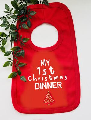 My First Christmas Dinner Bib