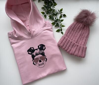 Space Bun Skull Sweater/Hoodie