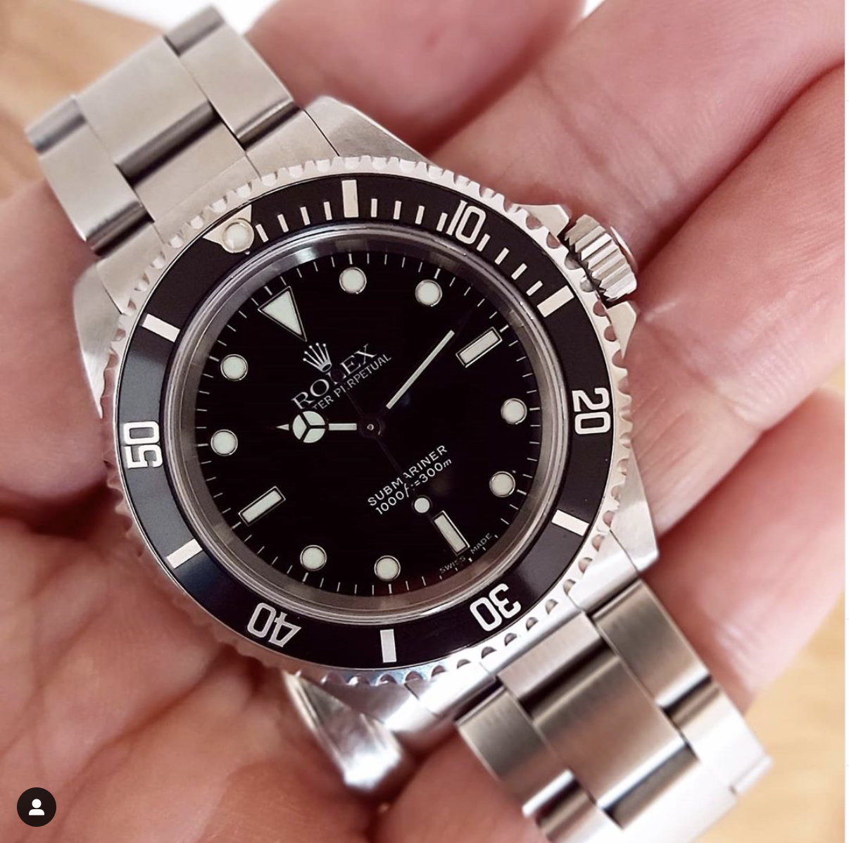 Rolex Submariner 14060m 'Serif Fat 4' Bezel