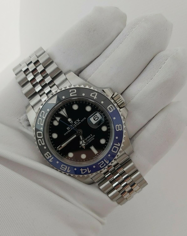 Rolex GMT Master II 126710BLNR (Batgirl), Full Set, New & Unworn